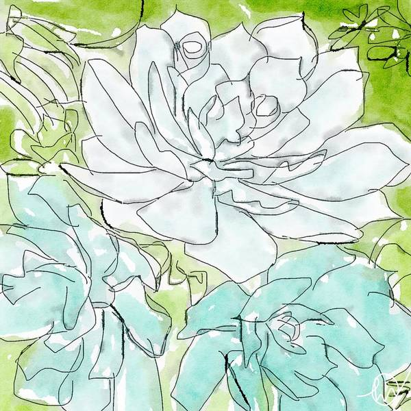 Painting - Succulent Love II by Monica Martin