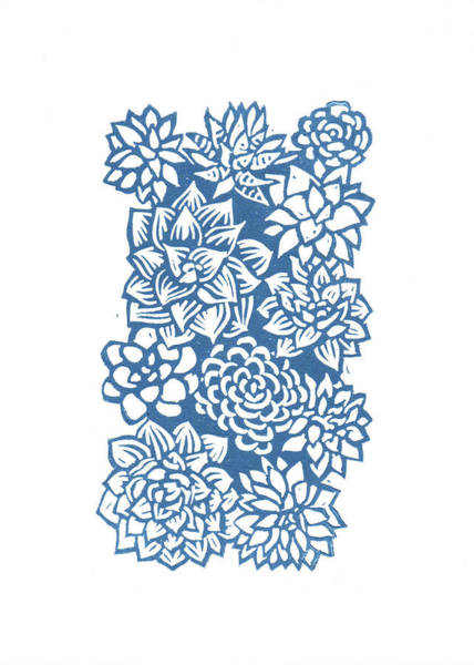 Wall Art - Drawing - Succulent Wall by Lisa Kesler