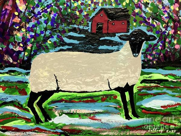 Wall Art - Painting - Suffolk Sheep by Jeffrey Koss