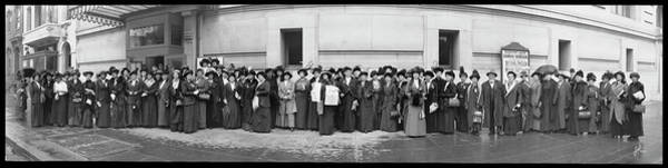 Wall Art - Photograph - Suffragettes At Masonic Temple by Fred Schutz Collection