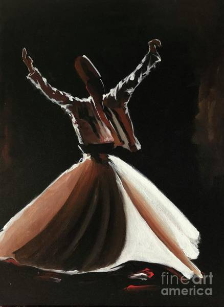 Art Print featuring the painting Sufi-s001 by Nizar MacNojia