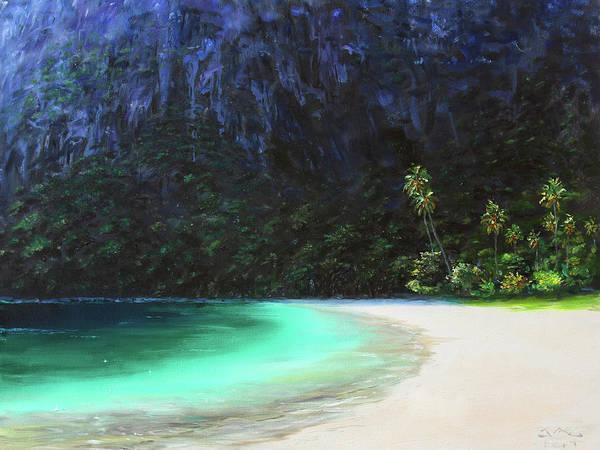 Saint Lucia Painting - Sugar Beach by Jonathan Guy-Gladding JAG