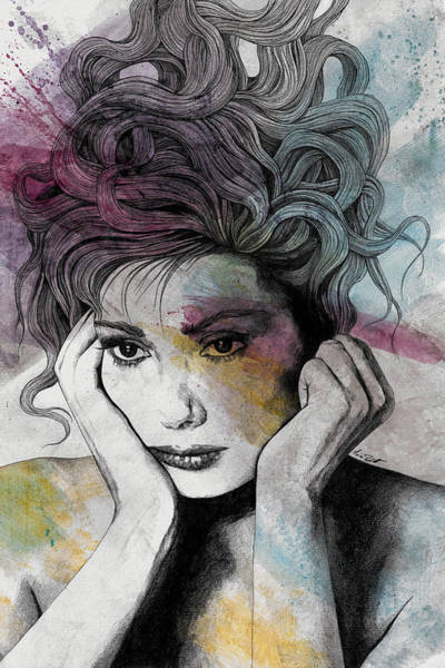 Actress Drawing - Sugar, Honey And Pepper - Tribute To Edwige Fenech by Marco Paludet