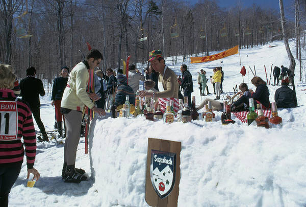 Bottle Photograph - Sugarbush Skiing by Slim Aarons