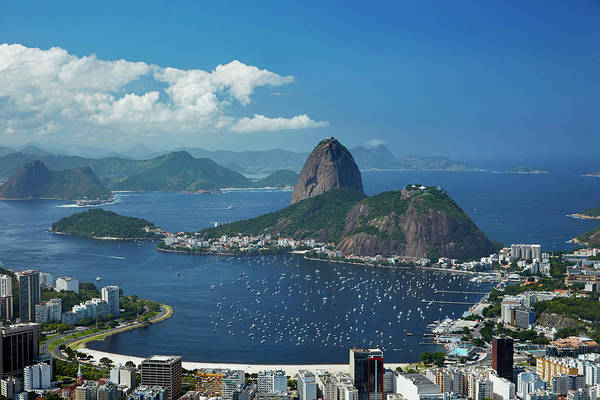 Wall Art - Photograph - Sugarloaf Mountain, Guanabara Bay by David Wall