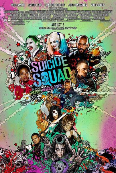 Suicide Digital Art - Suicide Squad Poster by Geek N Rock