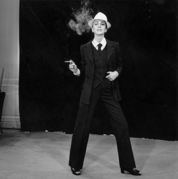 Fashion Model Photograph - Suited Fashion by Reg Lancaster