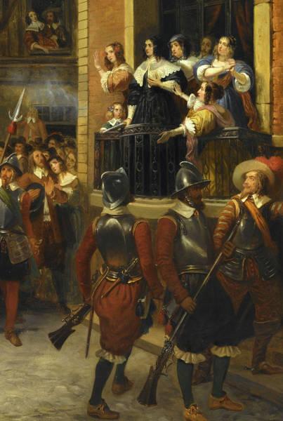 Wall Art - Painting - Sujet Tire De L'histoire De Cromwell,1649 by Jean Hippolyte Simon Bruyeres