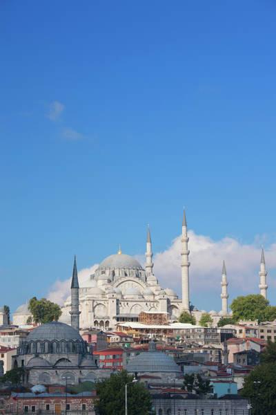 Suleymaniye Mosque Photograph - Suleymaniye Mosque, Istanbul, Turkey by Laurie Noble