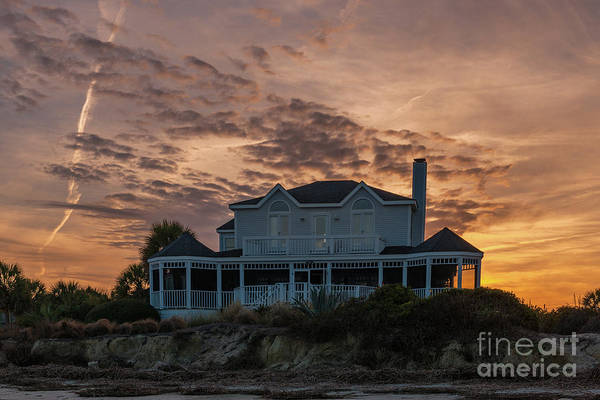 Photograph - Sullivan's Island Sunset Home by Dale Powell