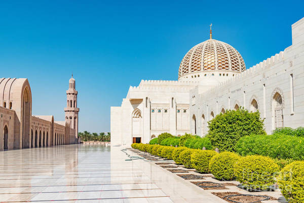 Wall Art - Photograph - Sultan Qaboos Grand Mosque In Muscat by Richard Yoshida