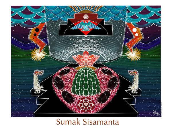 Sacred Heart Digital Art - Sumak Sisamanta by Santiago Andrade Leon