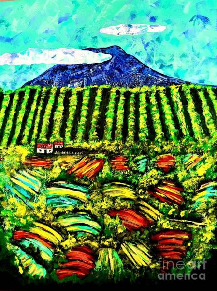 Painting - Sumatra Coffee Plantation by Allison Constantino