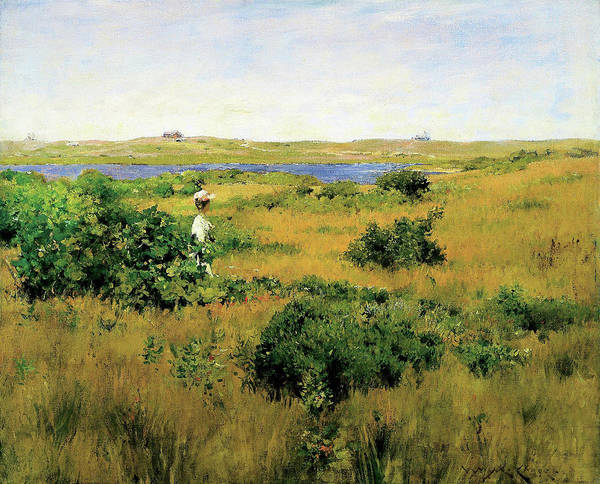 Wall Art - Painting - Summer At Shinnecock Hills - Digital Remastered Edition by William Merritt Chase
