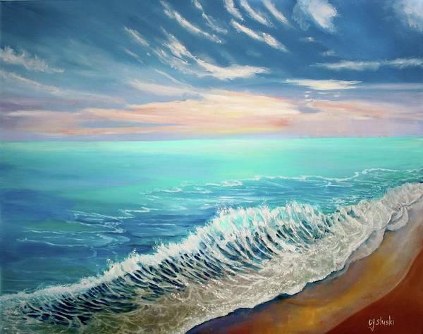 Wall Art - Painting - Summer At The Ocean by Carole Sluski