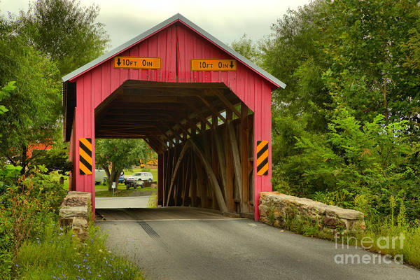 Photograph - Summer At The Saville Covered Bridge by Adam Jewell