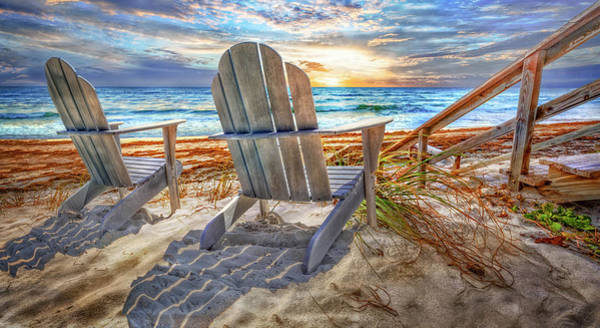 Photograph - Summer At The Shore Panorama by Debra and Dave Vanderlaan