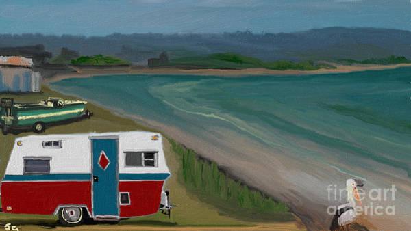 Speed Boat Digital Art - Summer Away On The Bay by Julie Grimshaw