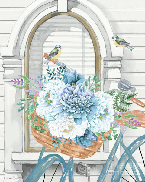Wall Art - Painting - Summer Bike Bouquet by Jean Plout