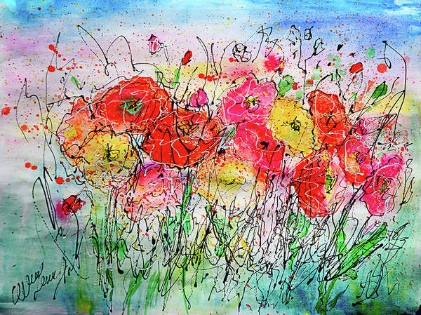 Photograph - Summer  Bloom By Olena Art  by OLena Art - Lena Owens
