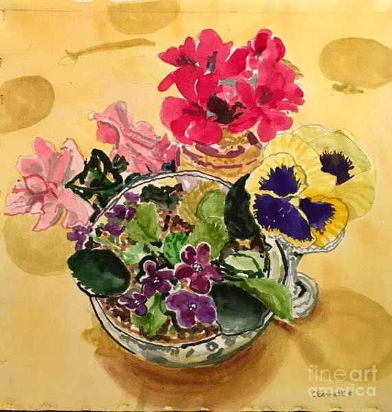 Wall Art - Painting - Summer Blooms  by Catherine Bennett