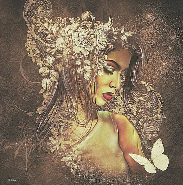 Wall Art - Mixed Media - Summer Bride 02 by G Berry