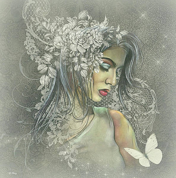 Wall Art - Mixed Media - Summer Bride by G Berry