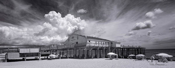 Photograph - Summer Cloud Beyond Kitty Hawk Pier 7813 by Dan Beauvais