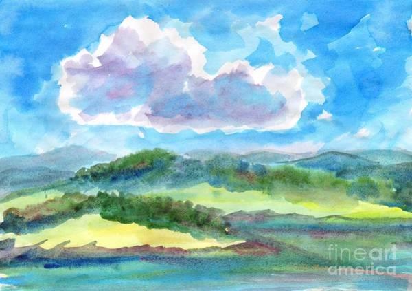 Painting - Summer Cloud In The Azure Sky by Irina Dobrotsvet