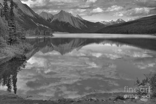 Photograph - Summer Clouds At Medicine Lake Black And White by Adam Jewell