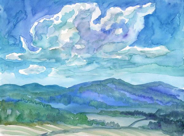 Painting - Summer Clouds Landscape  by Irina Dobrotsvet