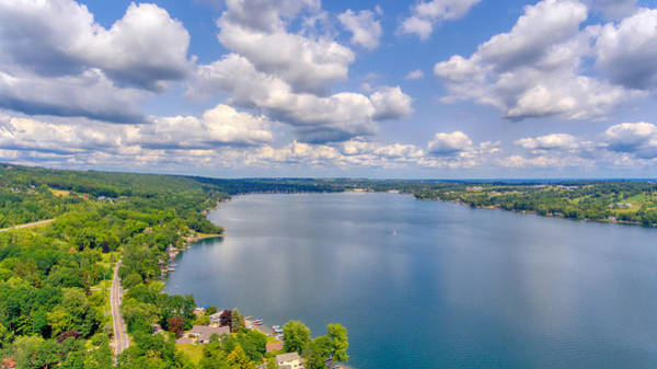 Photograph - Summer Clouds On Keuka Lake by Ants Drone Photography