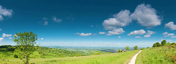 Wall Art - Photograph - Summer Countryside Panorama Big Blue by Fotovoyager