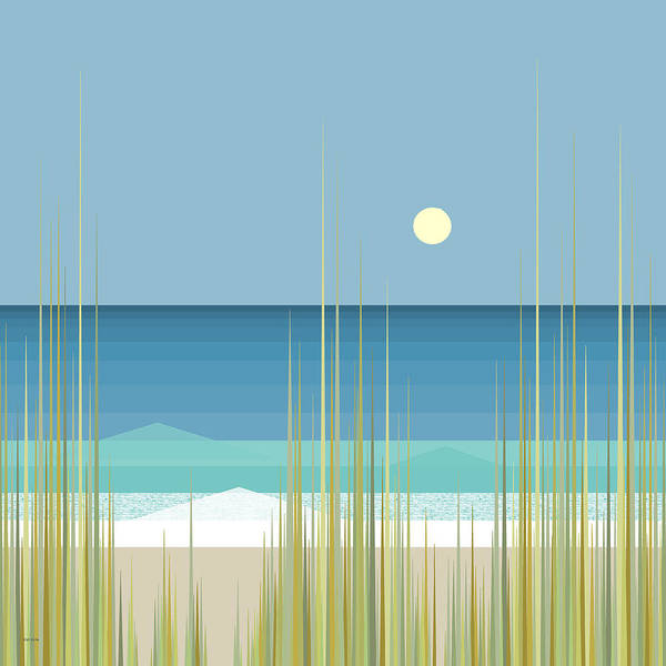 Digital Art - Summer Day At The Beach - Square by Val Arie