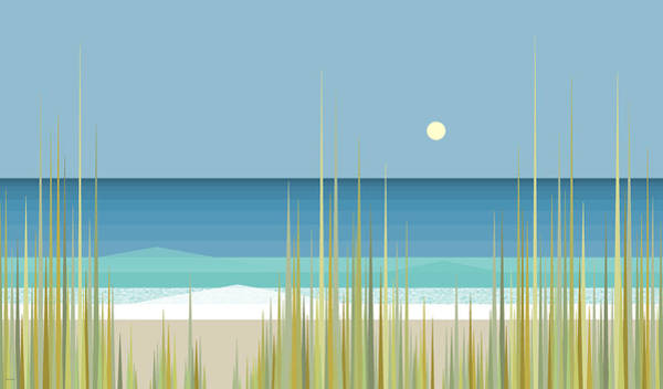 Digital Art - Summer Day At The Beach by Val Arie
