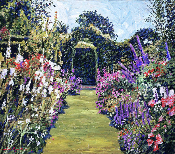 Tangle Painting - Summer Days In The Garden by David Lloyd Glover