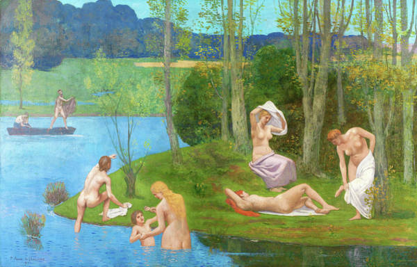 Wall Art - Painting - Summer - Digital Remastered Edition by Pierre Puvis de Chavannes
