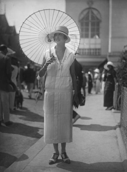 Parasol Photograph - Summer Dress by Seeberger Freres