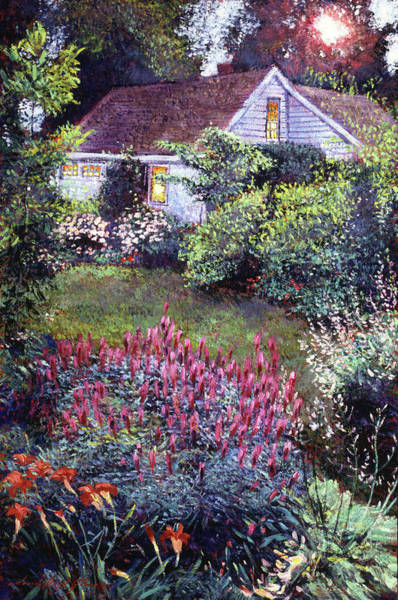Painting - Summer Evening Cottage by David Lloyd Glover