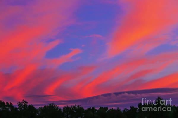 Wall Art - Photograph - Summer Evening Sunset Skyscape by Randy Steele