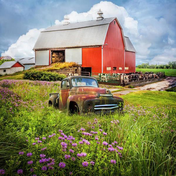 Wall Art - Photograph - Summer Farm Truck by Debra and Dave Vanderlaan
