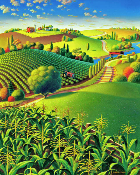Wall Art - Painting - Summer Fields by Robin Moline