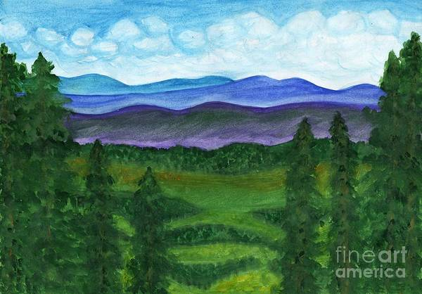 Painting - View From A Mountain Slope To Distant Mountains And Forests by Irina Dobrotsvet