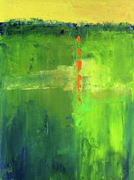 Wall Art - Painting - Summer Green by Nancy Merkle