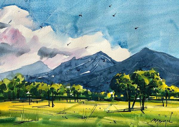Wall Art - Painting - Summer In Boulder 1 by Ugljesa Janjic