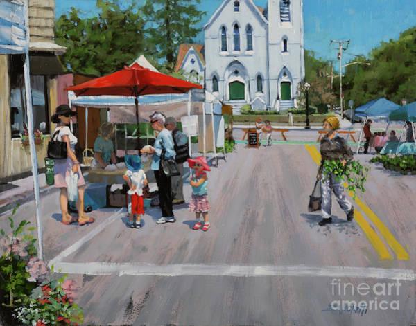 Wall Art - Painting - Summer In Hingham Three by Laura Lee Zanghetti