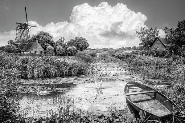 Photograph - Summer In Holland In Black And White by Debra and Dave Vanderlaan