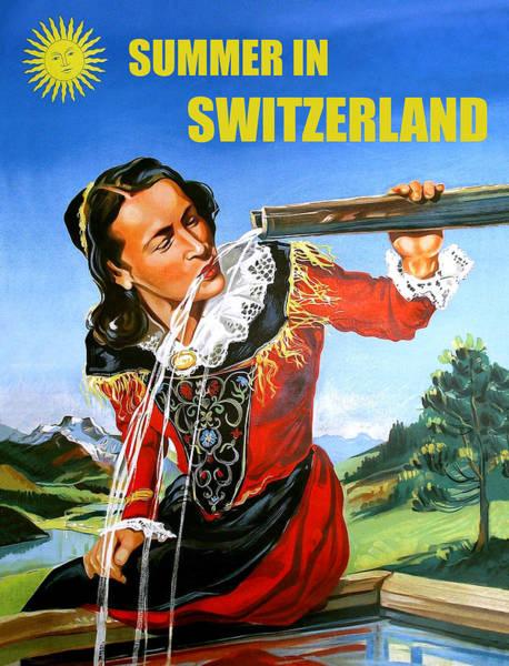 Summer Day Digital Art - Summer In Switzerland by Long Shot