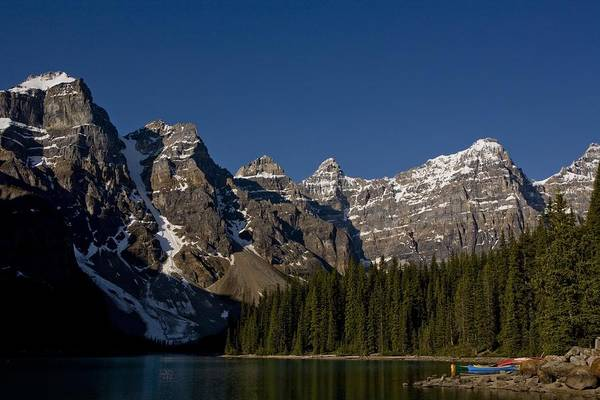 Lake George Photograph - Summer In The Canadian Rockies by George Rose