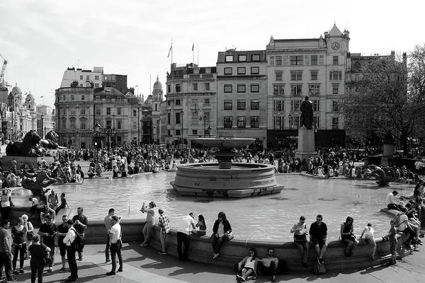 Photograph - Summer In Trafalgar Square, London by Aidan Moran